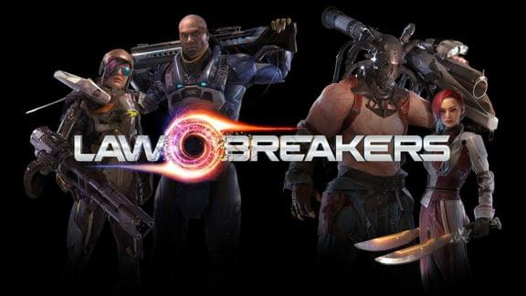 Image of Lawbreakers old logo and character design