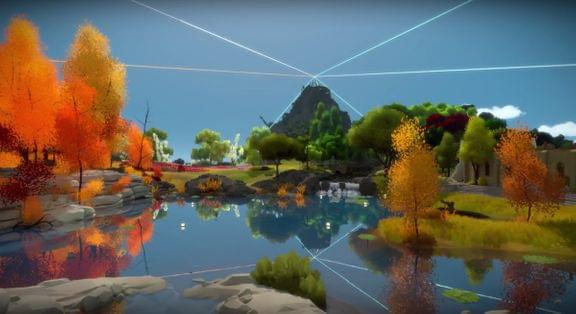 Screenshot from The Witness