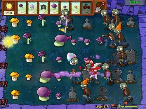 Screenshot of Plants vs. Zombies